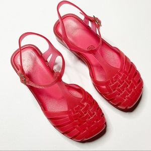 Mel by Melissa pink jelly sandals
